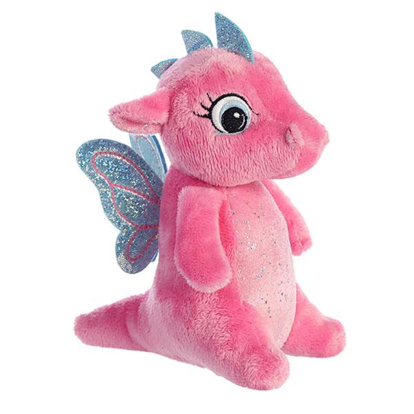 Купить Aurora 170776F Аврора Дракончик розовый, 16 см, Мягкие игрушки Aurora