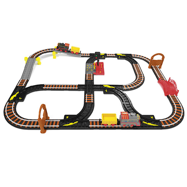 Купить Wincars YK-2502 Магистраль Железная дорога с двумя паровозами и семафором, Наборы игрушечных железных дорог, локомотивы, вагоны ТМ Wincars