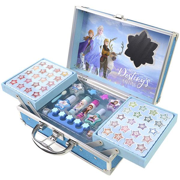 Купить Markwins 1599018E Frozen Игровой набор детской декоративной косметики для лица и ногтей в кейсе, Косметика для девочек Markwins