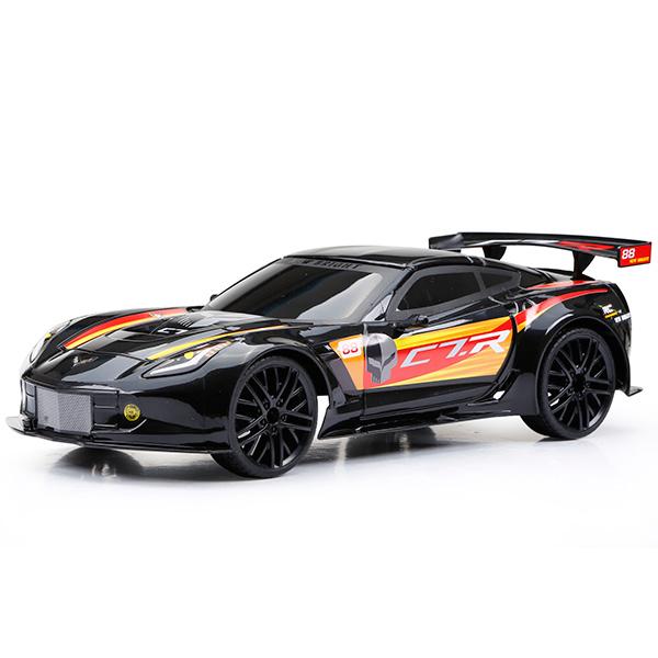 Купить Bright 1222-1 Игрушка р/у Corvette C7R (Чёрный), Машинка New Bright&Soma