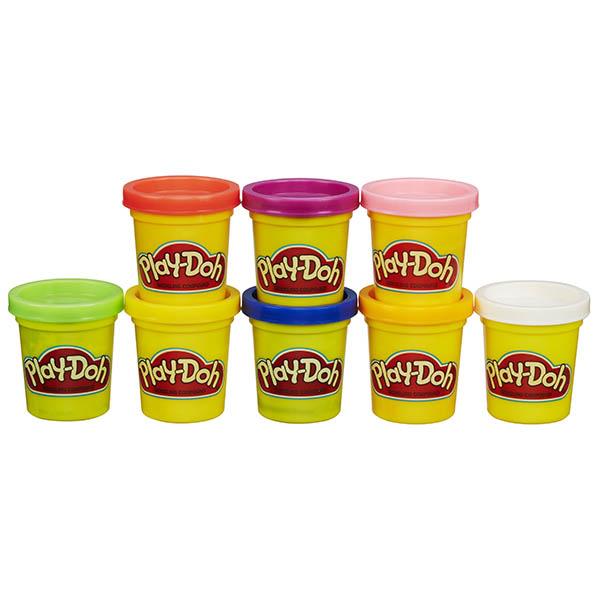 Купить Hasbro Play-Doh A7923 Набор из 8 баночек, Пластилин и масса для лепки Hasbro Play-Doh