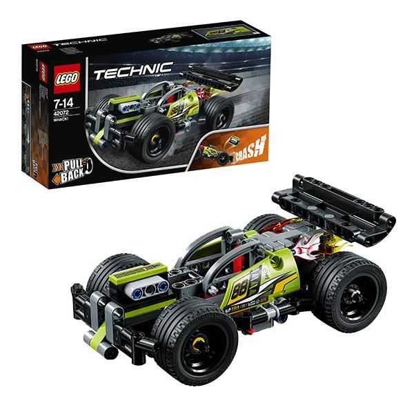 Купить LEGO Technic 42072 Конструктор ЛЕГО Техник Зеленый гоночный автомобиль, Конструкторы LEGO