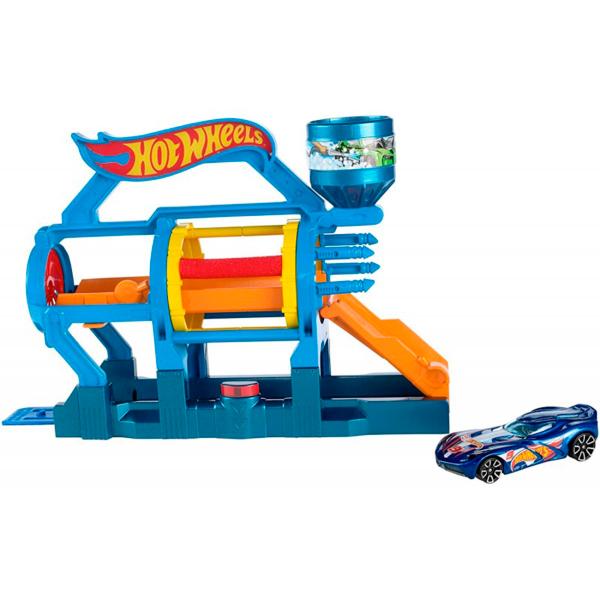 Купить Mattel Hot Wheels DWL00 Игровой набор Супер-мойка, Машинка Mattel Hot Wheels