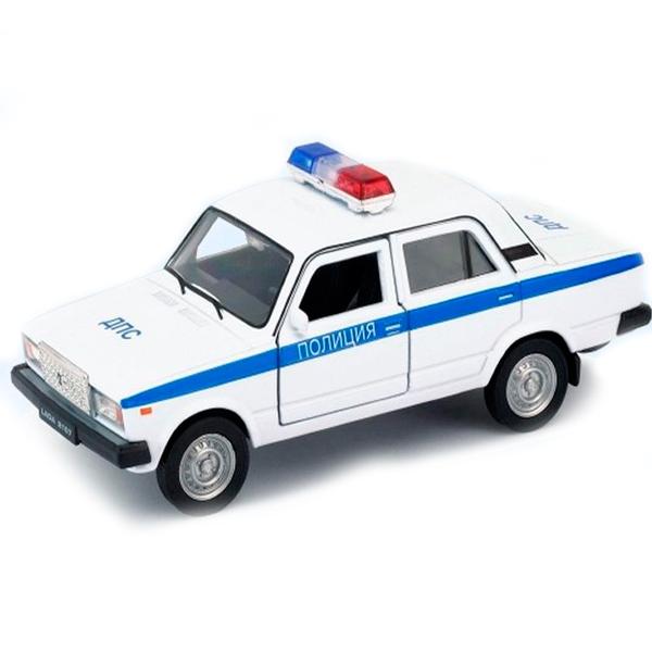 Купить Welly 43644PB Велли модель машины 1:34-39 LADA 2107 ПОЛИЦИЯ, Машинка инерционная Welly