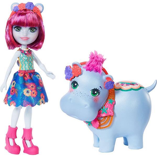 Купить Mattel Enchantimals GFN56 Куклы с большими зверюшками КУКЛА ГЕДДА ГИППОПОТАМА И ОЗЕРА, Игровые наборы и фигурки для детей Mattel Enchantimals