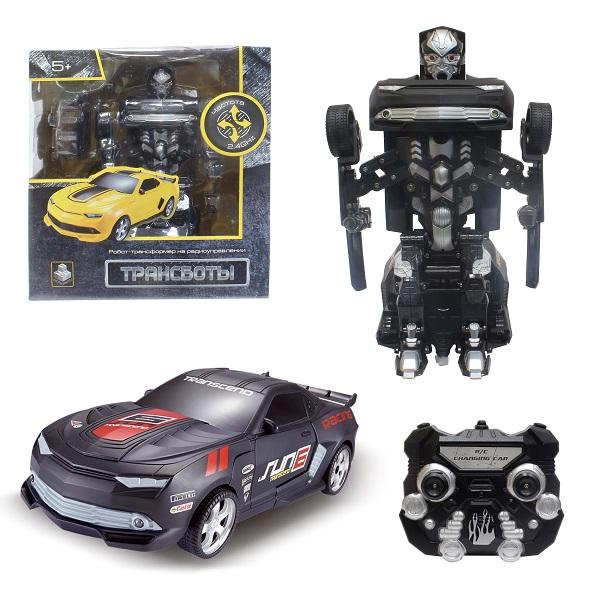 1toy T10863 Робот на р/у 2,4GHz, трансформирующийся в Маслкар, 30 см, чёрный по цене 3 599