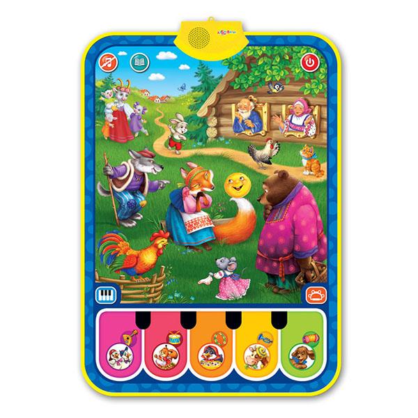 Купить Азбукварик 2024 Музыкальный коврик Чудо-сказочка , Музыкальная игрушка Азбукварик
