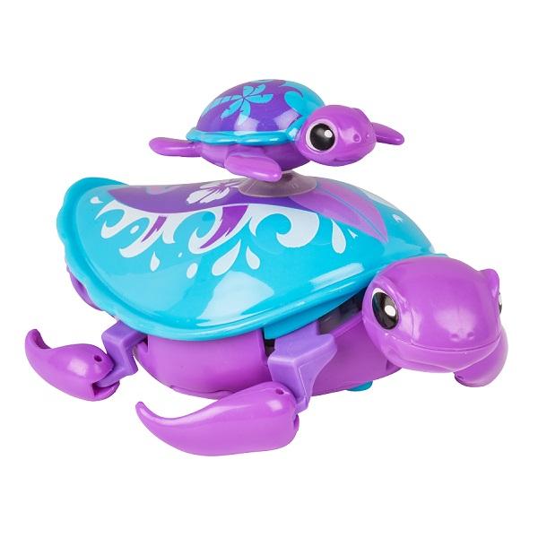 Купить Little Live Pets 28416 Интерактивная черепашка с малышом фиолетовая, Интерактивная игрушка Little Live Pets