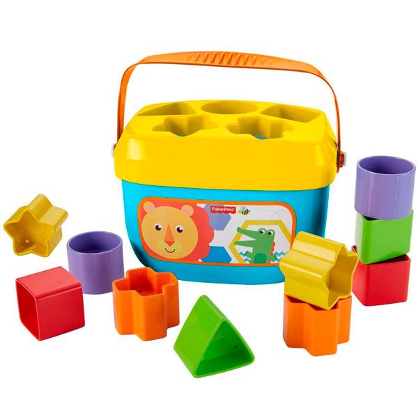 Купить Mattel Fisher-Price FFC84 Фишер Прайс Первые кубики малыша, Развивающие игрушки для малышей Mattel Fisher-Price