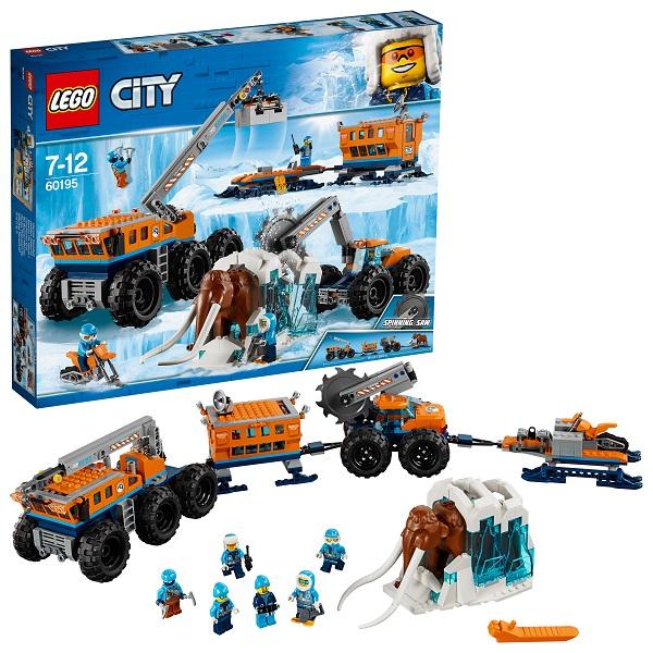 Купить LEGO City 60195 Конструктор ЛЕГО Город Арктическая экспедиция Передвижная арктическая база, Конструкторы LEGO
