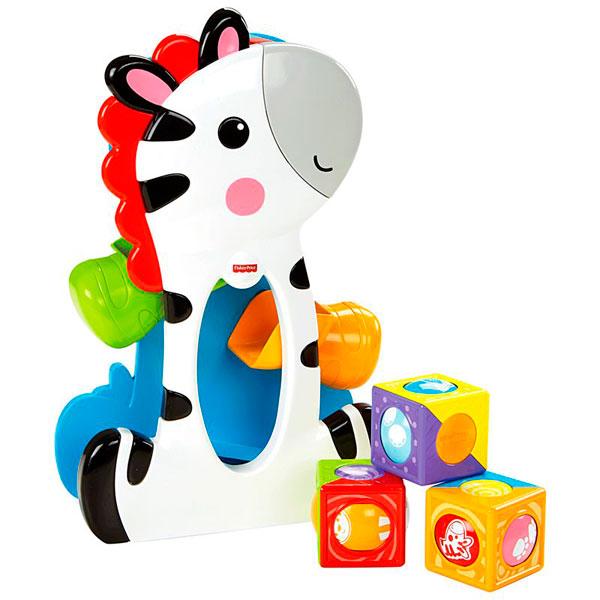 Купить Mattel Fisher-Price CGN63 Фишер Прайс Зебра с волшебными кубиками, Развивающие игрушки для малышей Mattel Fisher-Price
