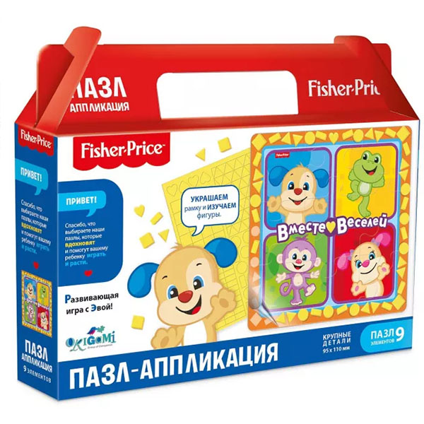 Купить Origami OR05033 Fisher Price Пазл Вместе веселей 93 элемента, Пазлы Оригами