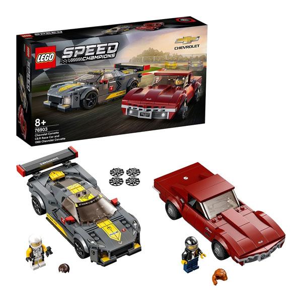 Купить LEGO Speed Champions 76903 Конструктор ЛЕГО Чемпионс Chevrolet Corvette C8.R Race Car and 1968, Конструктор LEGO