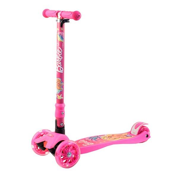 Barbie B5PP1 Самокат 3-х колесный c 3D-эффектом, розовый, размеры: 57х22х90см - Отдых и спорт