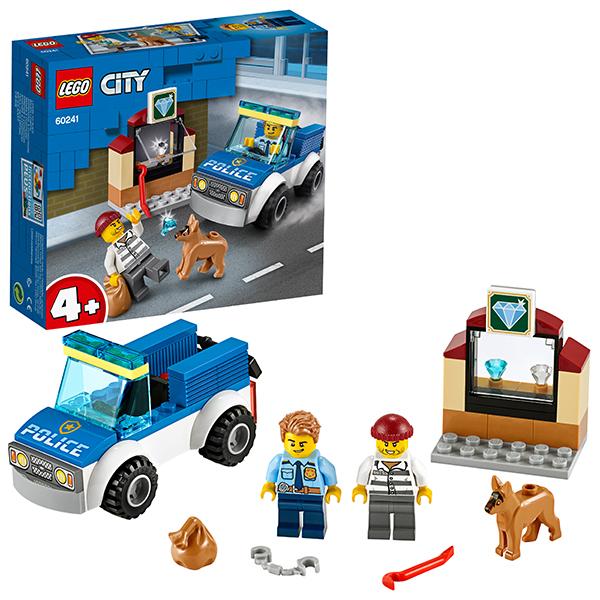 Купить LEGO City 60241 Конструктор ЛЕГО Город Полицейский отряд с собакой, Конструкторы LEGO
