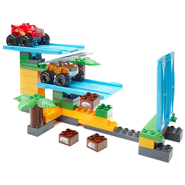 Купить Mattel Mega Bloks DPH78 Мега Блокс Вспыш: гонки в джунглях, Конструктор Mattel Mega Bloks