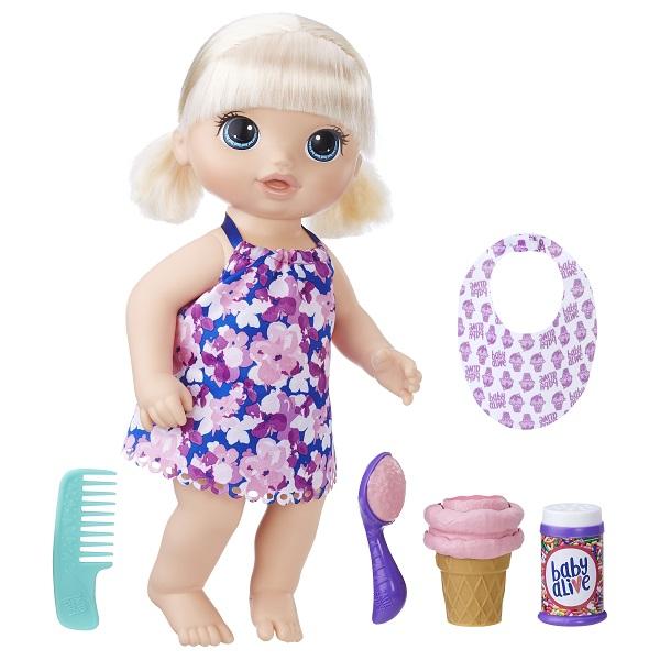 Купить Hasbro Baby Alive C1090 Малышка с мороженным, Кукла Hasbro Baby Alive