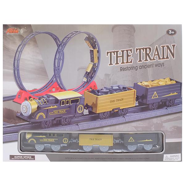 Наборы игрушечных железных дорог, локомотивы, вагоны HK Industries HK Industries 4119A Набор Железная дорога (мертвые петли) по цене 2 199
