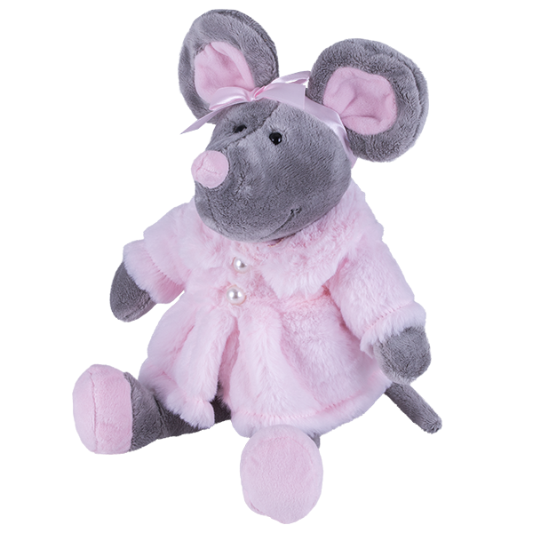 Мягкие игрушки SOFTOY — SOFTOY S883/15 Мягкая игрушка Мышь в шубе, 26см