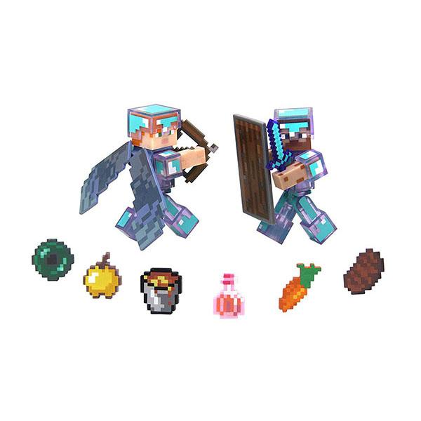Купить Minecraft 16472 Майнкрафт набор фигурок Steve & Alex Hardcore Survival Pack, Минифигурка Minecraft