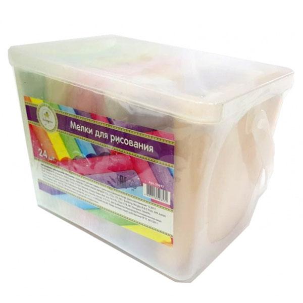 Купить ЯиГрушка 59657 Мел цветной, толстый 24 шт., 6 цветов, Набор для творчества ЯиГрушка