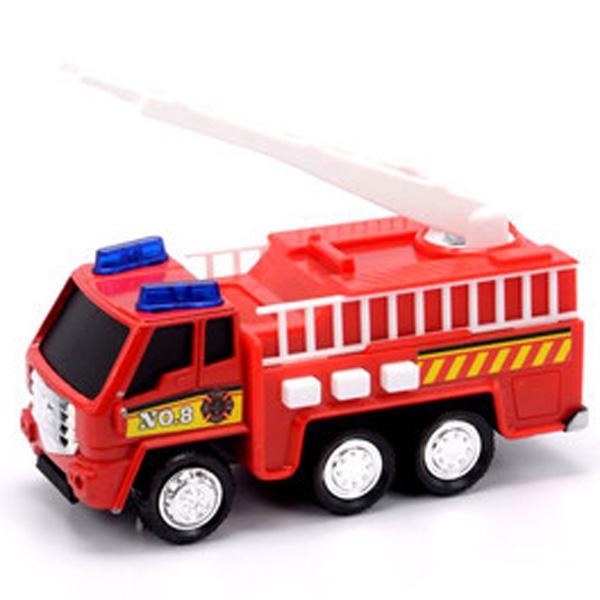 Купить Soma 71320 Пожарная машина со световым и звуковым эффектом 12 см, Машинка New Bright&Soma