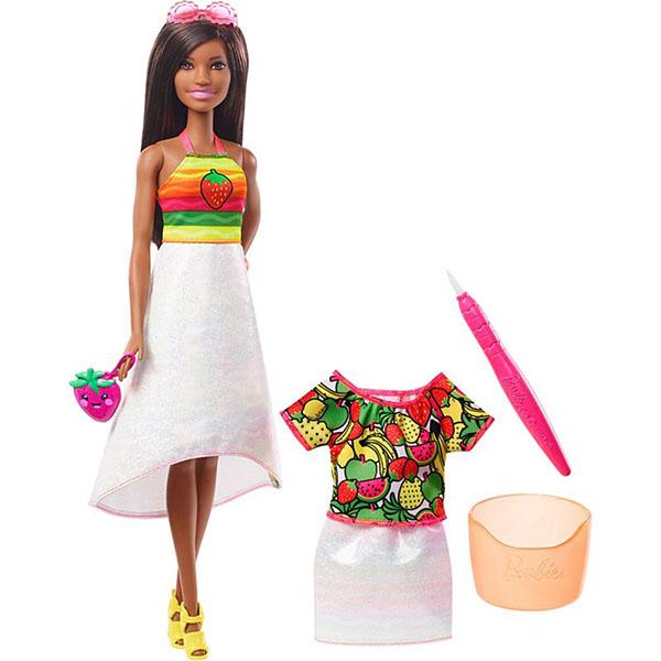 Mattel Barbie GBK19 Barbie x Crayola Фруктовый сюрприз (брюнетка) - Куклы и аксессуары