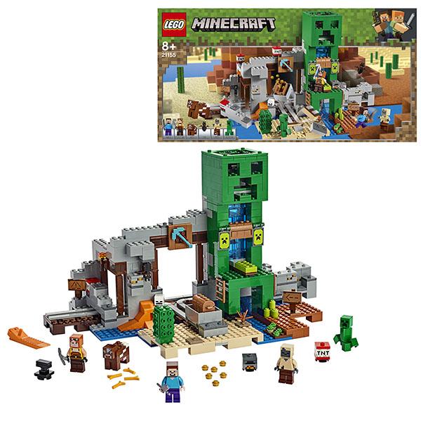 Купить LEGO Minecraft 21155 Конструктор ЛЕГО Майнкрафт Шахта крипера, Конструкторы LEGO
