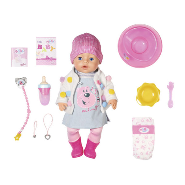 Купить Zapf Creation Baby born 826-690 Бэби Борн Кукла Интерактивная Стильная Весна, 43 см, Куклы и пупсы Zapf Creation