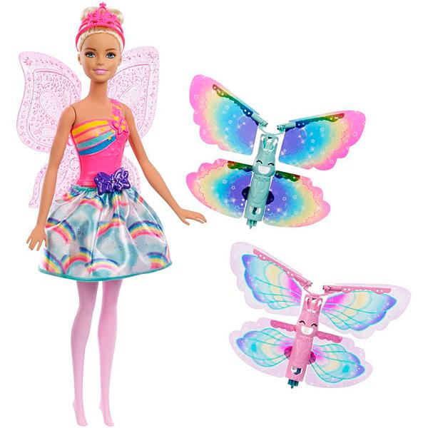 Купить Mattel Barbie FRB08 Барби Фея с летающими крыльями (в ассортименте), Кукла Mattel Barbie