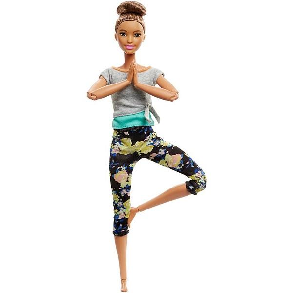 Купить Mattel Barbie FTG82 Барби Безграничные движения Шатенка с пучком, Куклы и пупсы Mattel Barbie