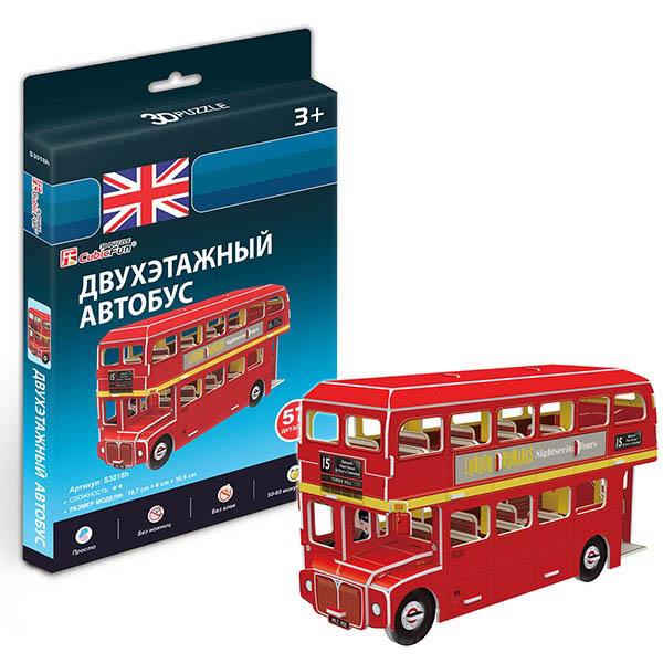 Купить Cubic Fun S3018h Кубик фан Лондонский двухэтажный автобус, 3D пазлы Cubic Fun
