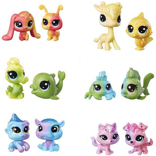 Купить Hasbro Littlest Pet Shop C0794 Литлс Пет Шоп: Радужная коллекция - 2 радужных пета, Игровой набор Hasbro Littlest Pet Shop