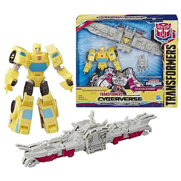 Игровые наборы и фигурки для детей Hasbro Transformers E4220/E4329 Трансформеры Спарк Армор Бамблби 18 см фото