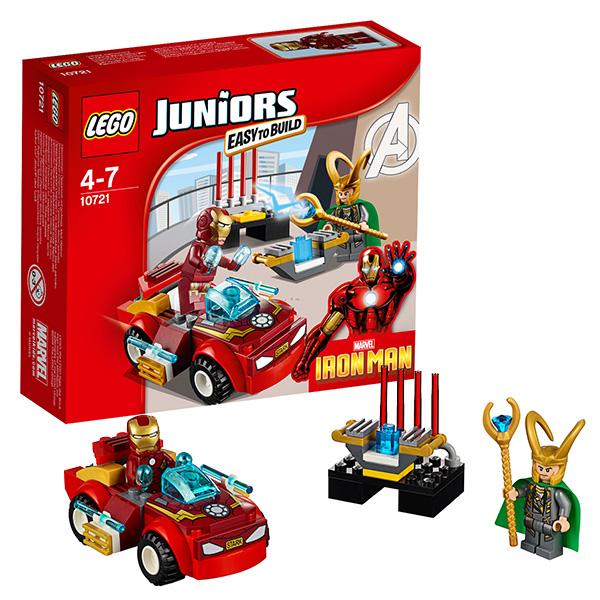 Lego Juniors 10721 Конструктор Лего Джуниорс Железный человек против Локи, арт:126588 - Джуниорс, Конструкторы LEGO