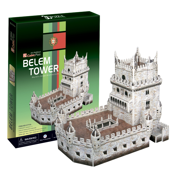 3D пазлы Cubic Fun C711h Кубик фан Башня Белен (Португалия)