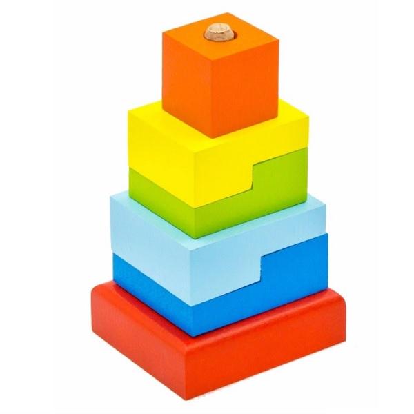 """Деревянные игрушки Alatoys 03ALLA Пирамидка """"Ступеньки"""" фото"""