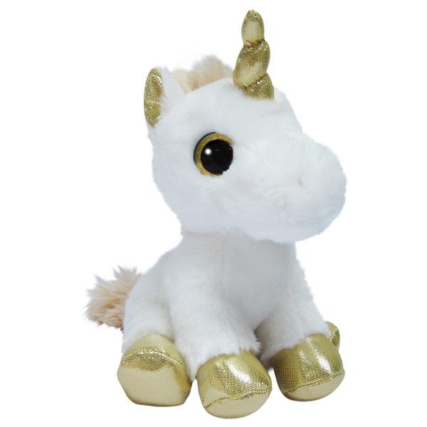 Мягкие игрушки Aurora 150710J Единорог золотой, 20 см фото