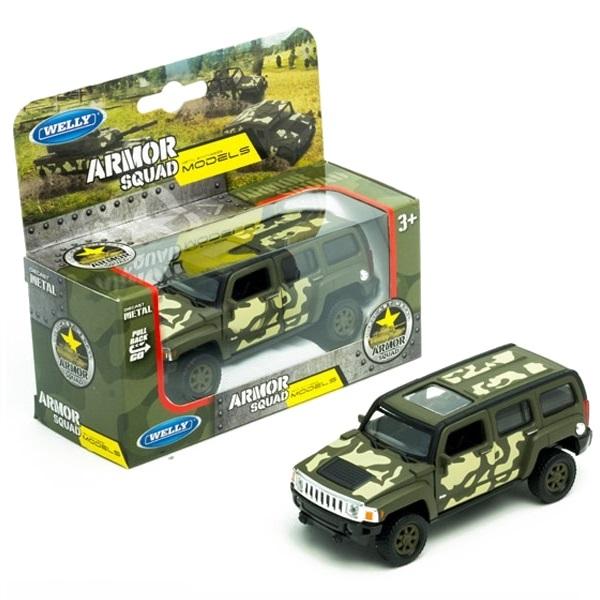 Купить Welly 43629CM Велли Модель военной машины 1:34-39 Hummer H3, Игрушечные машинки и техника Welly