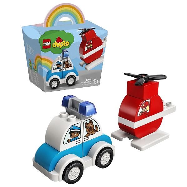 Купить LEGO DUPLO 10957 Конструктор ЛЕГО Дупло Пожарный вертолет и полицейский автомобиль