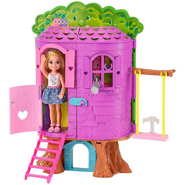 Купить Mattel Barbie FPF83 Барби Игровой набор Домик на дереве Челси , Кукла Mattel Barbie