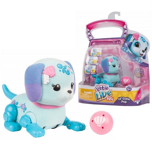 Little Live Pets 28664 Щенок с мячиком Ракушка - Интерактивные игрушки