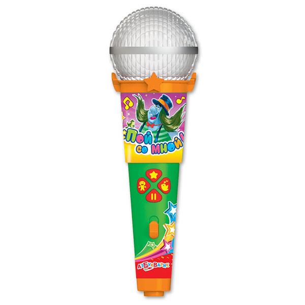 Купить Азбукварик 1977 Микрофон пой со мной! Песенки веселых мультяшек , Музыкальная игрушка Азбукварик