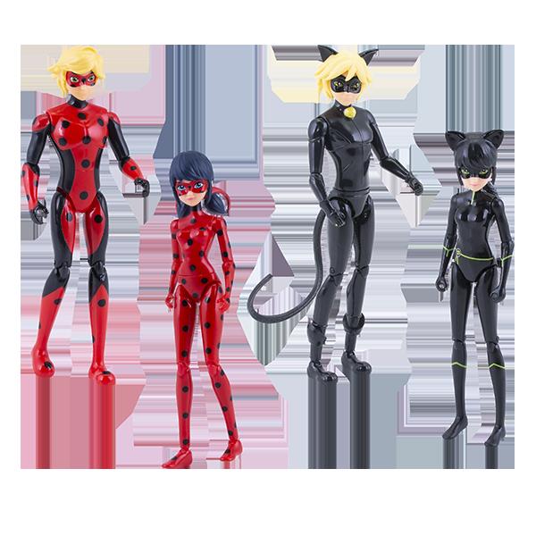 Купить Леди Баг 39945 Набор 4 героя с аксессуарами (куклы 13 см), Игровые наборы и фигурки для детей Леди Баг (Miraculous)