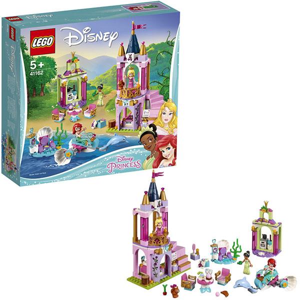 Купить LEGO Disney Princess 41162 Конструктор ЛЕГО Принцессы Королевский праздник Ариэль, Авроры и Тианы, Конструктор LEGO
