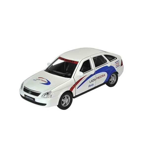 Машинка инерционная Welly Welly 43645RY Велли модель машины 1:34-39 LADA PRIORA RALLY по цене 399