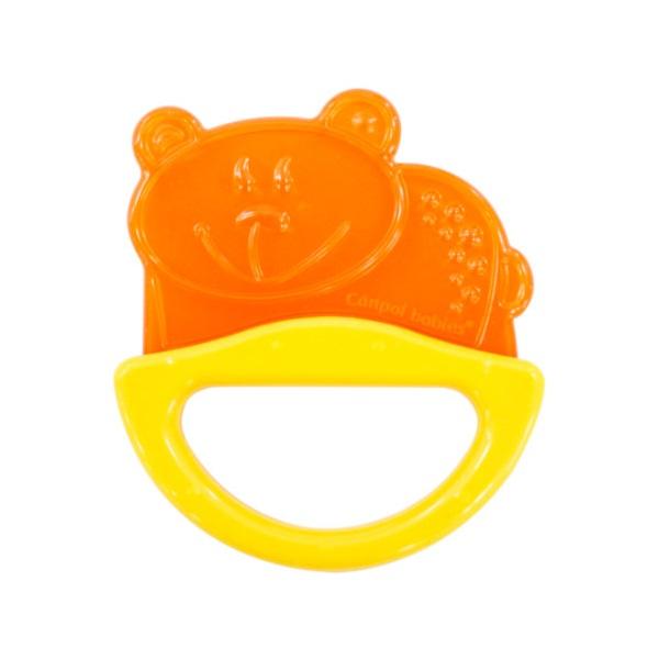Купить Canpol babies 250930510 Погремушка с эластичным прорезывателем, 0+, цвет: желтый, форма: мишка, Погремушка Canpol babies