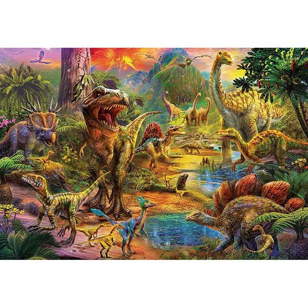 Educa 17655 Пазл 1000 деталей Земля динозавров - Настольные игры