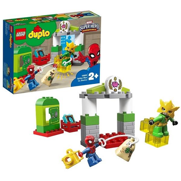 Купить Lego Duplo 10893 Конструктор Лего Дупло Супер Герои Человек-паук: Человек-паук против Электро, Конструкторы LEGO