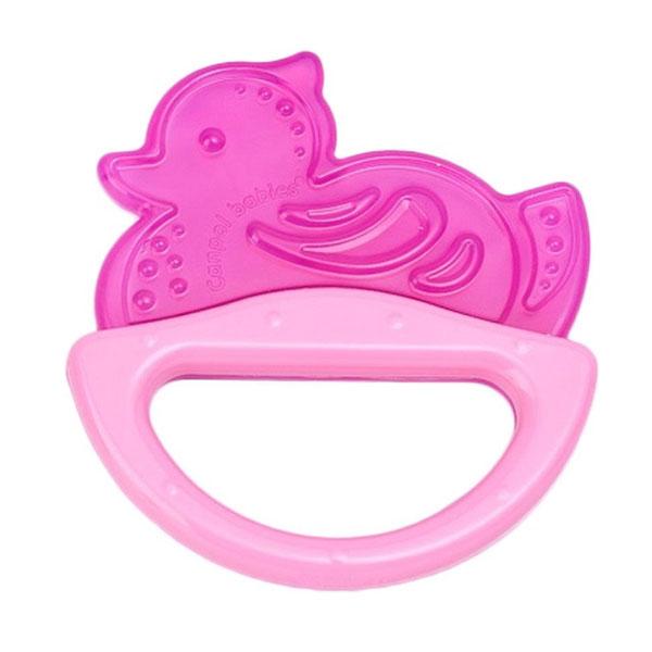 Купить Canpol babies 250930512 Погремушка с эластичным прорезывателем, 0+, цвет: розовый, форма: уточка, Погремушка Canpol babies